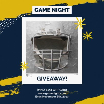 Instagram Post Maker for a Football Game Night Giveaway 643l 1927