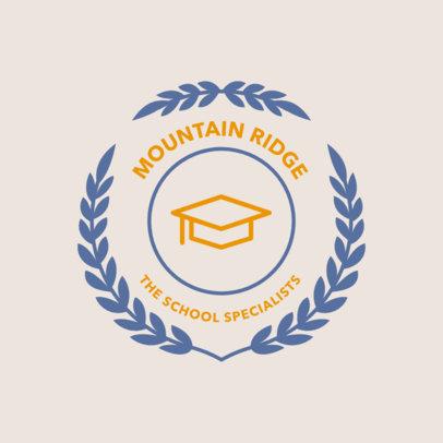 School Logo Template with a Graduation Cap Clipart 1088f-68-el