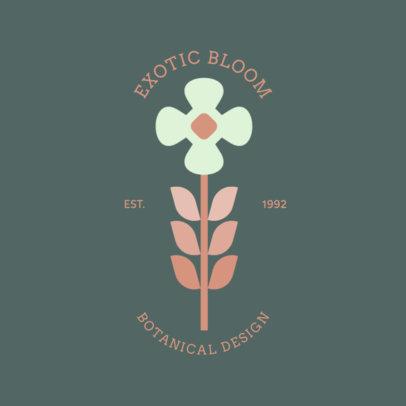 Botanical Logo Generator for Florists 1269f 86-el