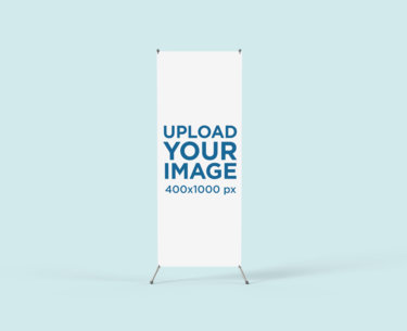 X-Stand Banner Mockup with a Customizable Backdrop 809-el