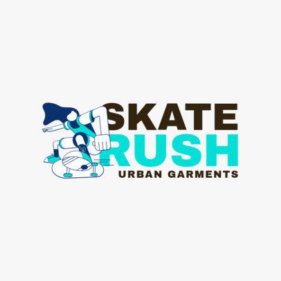 Logo Design Maker for an Urban Clothing Line Inspired in Santa Cruz 2626
