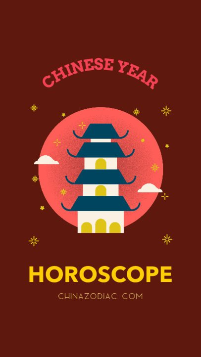 Instagram Story Maker for a Chinese Year Horoscope 1923c