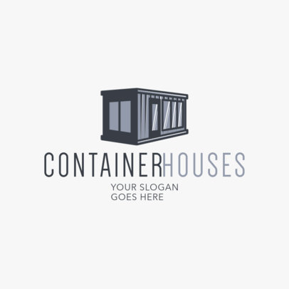 Real Estate Logo Template for Container Houses 2630d
