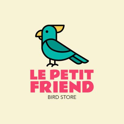 Bird Store Logo Maker Featuring a Cockatoo Clipart
