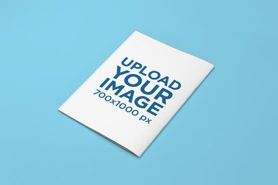 Mockup of a Magazine Placed on a Solid Color Surface 765-el