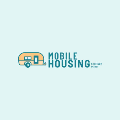 Mobile Housing Logo Maker for a Real Estate Company 2630g