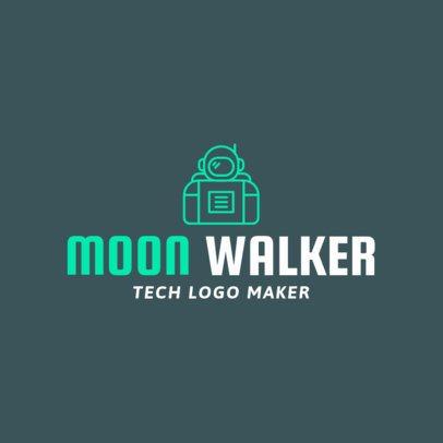 Tech Company Logo Maker with an Astronaut Clipart 1135g-70-el