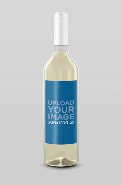 Mockup of a Wine Bottle 28508