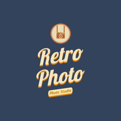 Online Logo Maker for a Retro-Styled Photo Studio 2627b