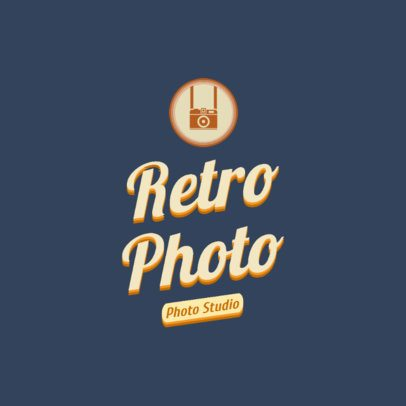 Online Logo Maker for a Retro-Styled Photo Studio 2627b