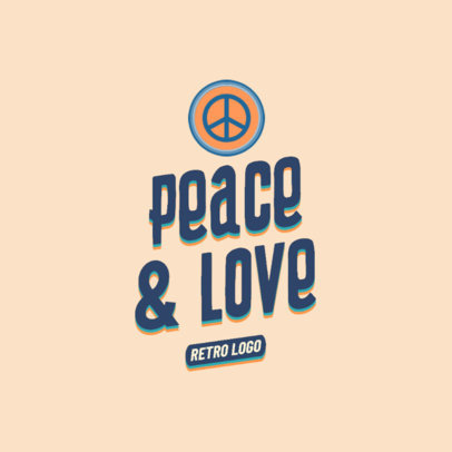 Nostalgic Logo Generator with a Peace Sign 2627c