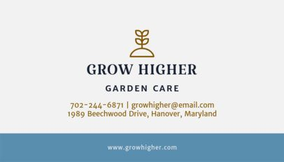 Business Card Design Template for Professional Gardeners 652f 67-el