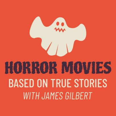 Podcast Cover Maker for a Horror Movies Show 1494h el-89