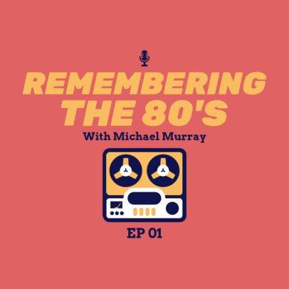 Podcast Cover Generator for a Retro Music Show 1498g 33-el