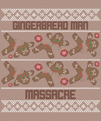 Ugly Xmas Design Generator Featuring Chopped Gingerbread Man Illustrations 1914d