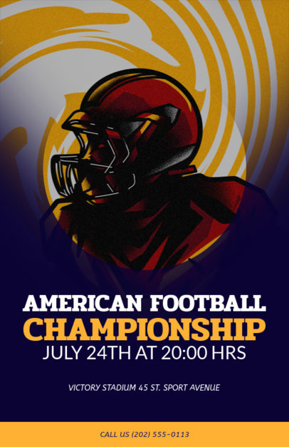 Football Flyer Generator for a Championship Event 108i 1936