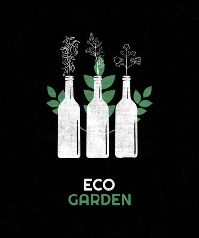 T-Shirt Design Generator for Indoor Gardeners Featuring Reused Bottles 1922f