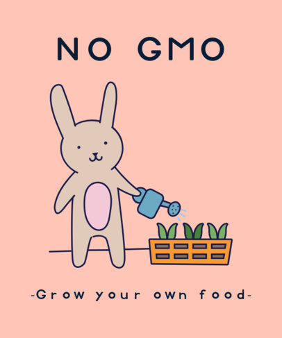 GMO-Themed T-Shirt Design Creator of Eco-Friendly Activities 1921g