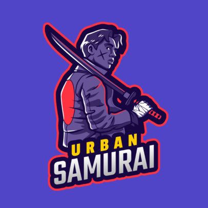 Free Fire-Inspired Gaming Logo Maker Featuring an Urban Samurai Illustration 2634i