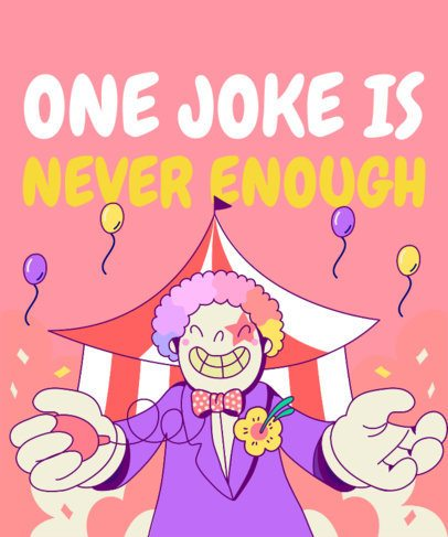 Party-Themed T-Shirt Design Maker with a Circus Clown Clipart 1915d
