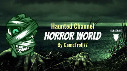 Horror Style Twitch Banner Template for a Gaming Streamer Channel 1965