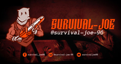 Twitch Banner Maker with a Horror Game Chainsaw Maniac 1964a