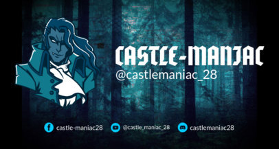 Castlevania-Inspired Twitch Banner Design Template 1964d