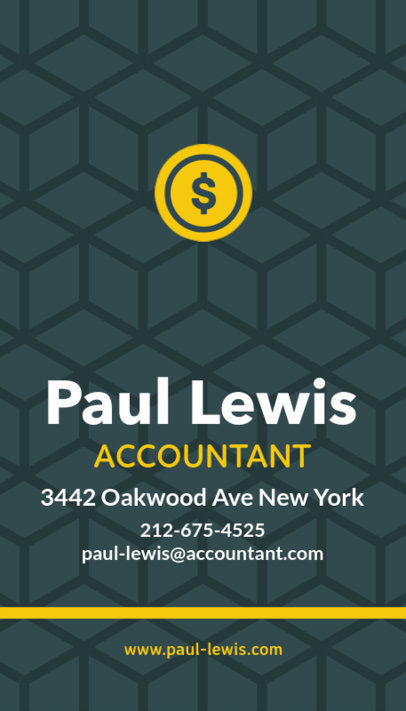 Business Card Design Template for Accountants 332f 23-el