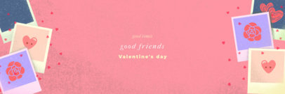 Valentine's Day-Themed Twitter Header Creator with Picture Frame Illustrations 1096h