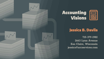 Accountant Business Card Design Template 321f 60-el