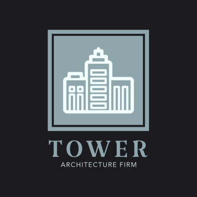 Architectural Firm Logo Template Featuring a Buildings Clipart 1421f 60-el