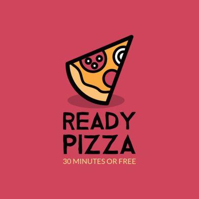 Pizza Place Logo Maker for a Fast Food Restaurant 989f 42-el