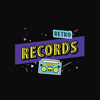 Logo Creator for a Retro Music Store 2628c