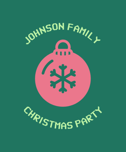 Christmas Tee Design Maker for a Family 831f-112-el