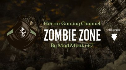 Twitch Banner Maker for a Horror Channel with a Parka Clipart 1965i