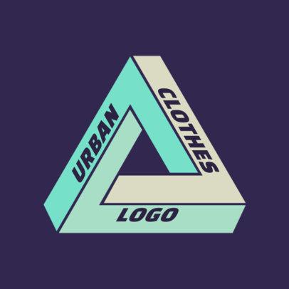 Urban Clothing Logo Creator with a Three-Dimensional Shape 2649i