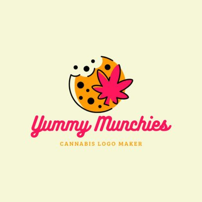 Cannabis-Themed Logo Maker for a Munchies Store 2648b