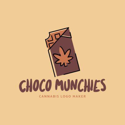Cannabis-Themed Logo Template for Chocolate Munchies Products 2648c