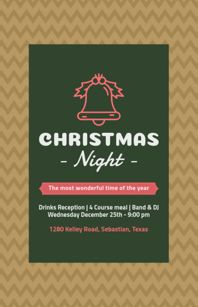 Holiday Flyer Design Template for a Christmas Reception 109a-el