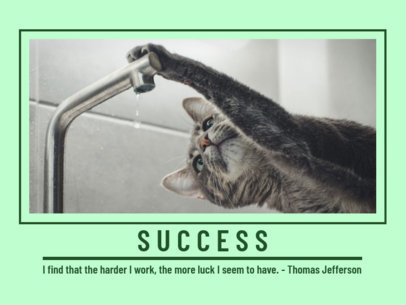 Pet-Themed Poster Generator Featuring a Motivational Quote 1952e