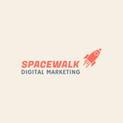 Digital Marketing Agency Logo Generator with a Rocket Clipart 2230i 97-el