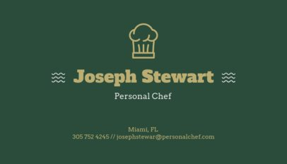 Simple Business Card Design Template for a Personal Chef 122h-55-el