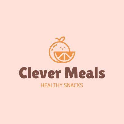 Healthy Food Logo Maker with a Fruit Icon 1267h-55-el