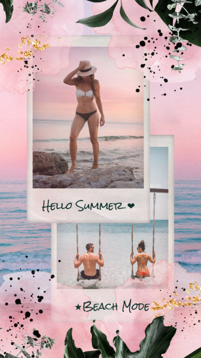 Summer-Themed Instagram Story Generator Featuring Instant Photo Frames 1949g