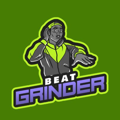 Logo Generator with a Deejay Character Graphic 2656b