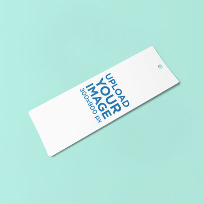Bookmark Mockup with a Solid Color Backdrop 883-el