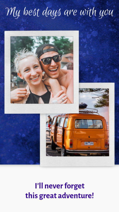 Instagram Story Template with a Travel Theme 1951a
