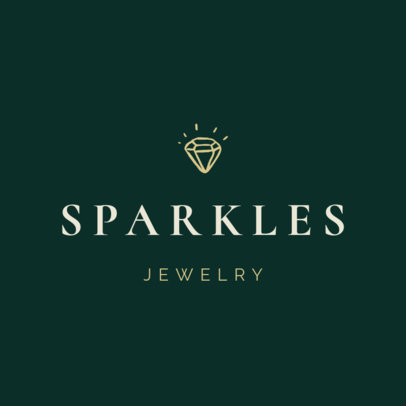Minimal Logo Generator for a Jewelry Store Featuring a Diamond Doodle 1208g 72-el