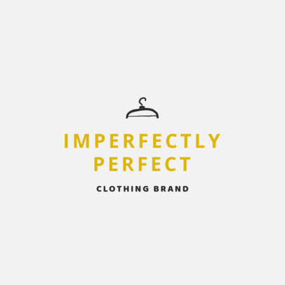 Minimalistic Logo Template for Apparel Brands 1315g 72-el