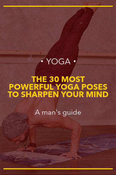 Yoga-Themed Pinterest Pin Maker for a Male Focused Post 1768h-1977